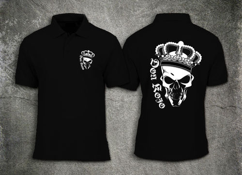 "Men Polo Shirt "" Don KOJO Skull "" Logo"