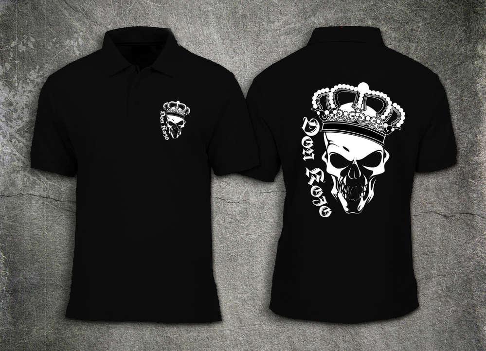 Men Polo Shirt Don Kojo Skull Logo